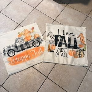 Fall Pillow covers 20x20 set of 2. Brand new.